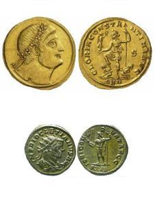 Constantin RIC 151 si Diocletian RIC 162